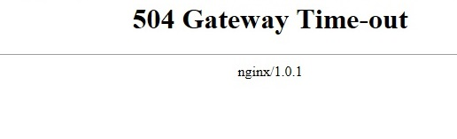 host error 504 Gateway Time-out