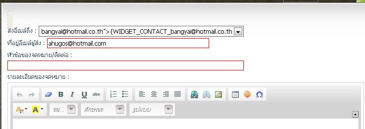 widget ติดต่อ มีปัญหาครับ ช่วยหน่อยครับ